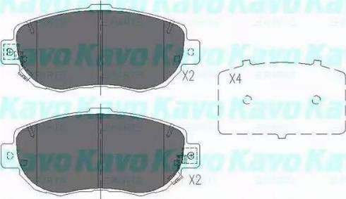 Kavo Parts KBP-9044 - Piduriklotsi komplekt,ketaspidur multiparts.ee