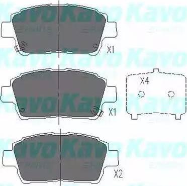 Kavo Parts KBP-9009 - Piduriklotsi komplekt,ketaspidur multiparts.ee