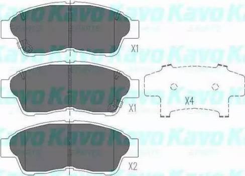 Kavo Parts KBP-9005 - Piduriklotsi komplekt,ketaspidur multiparts.ee