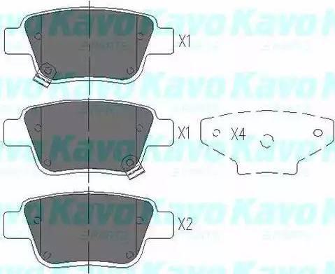 Kavo Parts KBP-9019 - Piduriklotsi komplekt,ketaspidur multiparts.ee