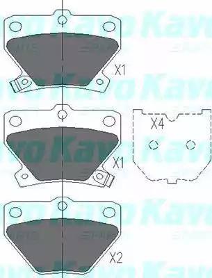 Kavo Parts KBP-9013 - Piduriklotsi komplekt,ketaspidur multiparts.ee