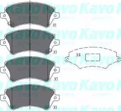 Kavo Parts KBP-9012 - Piduriklotsi komplekt,ketaspidur multiparts.ee
