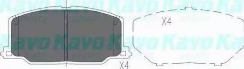 Kavo Parts KBP-9036 - Piduriklotsi komplekt,ketaspidur multiparts.ee