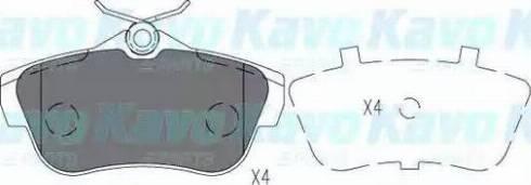 Kavo Parts KBP-9147 - Piduriklotsi komplekt,ketaspidur multiparts.ee