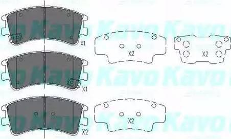 Kavo Parts KBP-4512 - Piduriklotsi komplekt,ketaspidur multiparts.ee