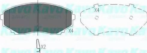 Kavo Parts KBP-4530 - Piduriklotsi komplekt,ketaspidur multiparts.ee