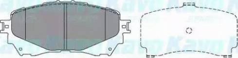 Kavo Parts KBP-4570 - Piduriklotsi komplekt,ketaspidur multiparts.ee
