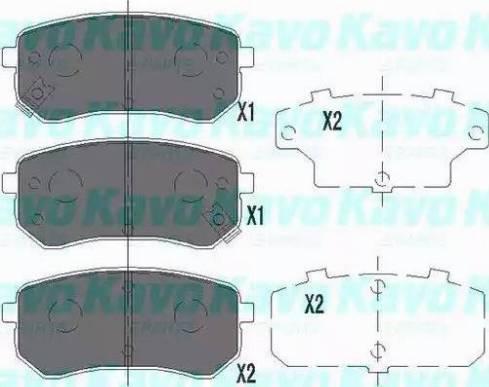 Kavo Parts KBP-4005 - Piduriklotsi komplekt,ketaspidur multiparts.ee