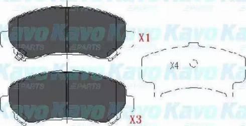 Ashika 50-01-123 - Piduriklotsi komplekt,ketaspidur multiparts.ee