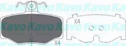Kavo Parts KBP-6511 - Piduriklotsi komplekt,ketaspidur multiparts.ee