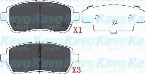 Kavo Parts KBP-1514 - Piduriklotsi komplekt,ketaspidur multiparts.ee