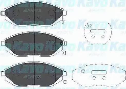 Kavo Parts KBP-1017 - Piduriklotsi komplekt,ketaspidur multiparts.ee
