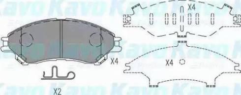 Kavo Parts KBP-8533 - Piduriklotsi komplekt,ketaspidur multiparts.ee