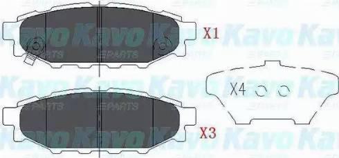 Kavo Parts KBP-8005 - Piduriklotsi komplekt,ketaspidur multiparts.ee