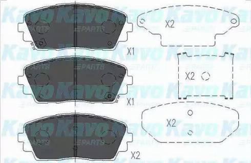 Kavo Parts KBP-3040 - Piduriklotsi komplekt,ketaspidur multiparts.ee