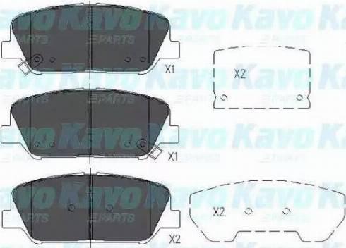 Kavo Parts KBP-3042 - Piduriklotsi komplekt,ketaspidur multiparts.ee