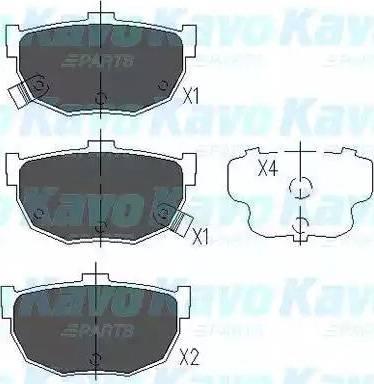 Kavo Parts KBP-3007 - Piduriklotsi komplekt,ketaspidur multiparts.ee