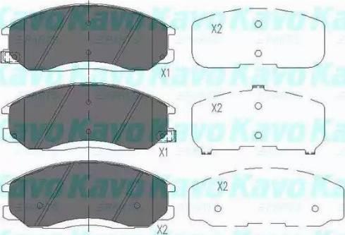 Kavo Parts KBP-3019 - Piduriklotsi komplekt,ketaspidur multiparts.ee