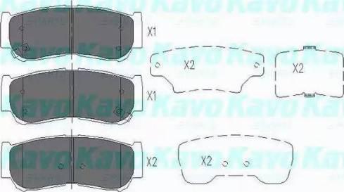 Kavo Parts KBP-3024 - Piduriklotsi komplekt,ketaspidur multiparts.ee