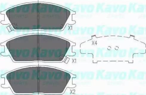 Kavo Parts KBP-3028 - Piduriklotsi komplekt,ketaspidur multiparts.ee