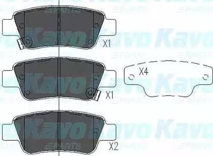 Kavo Parts KBP-2042 - Piduriklotsi komplekt,ketaspidur multiparts.ee