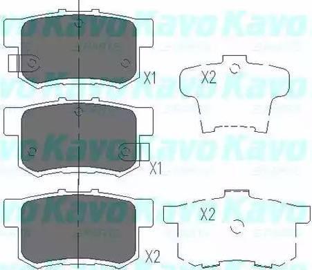 Kavo Parts KBP-2009 - Piduriklotsi komplekt,ketaspidur multiparts.ee