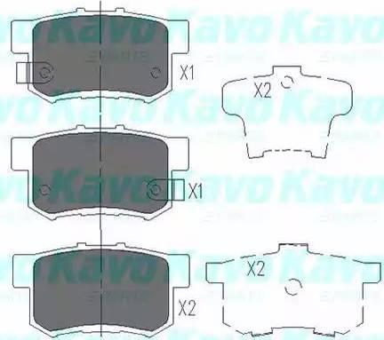 Kavo Parts KBP-2008 - Piduriklotsi komplekt,ketaspidur multiparts.ee