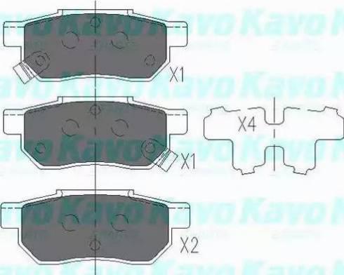 Kavo Parts KBP-2007 - Piduriklotsi komplekt,ketaspidur multiparts.ee