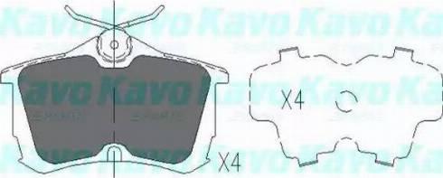 Kavo Parts KBP-2011 - Piduriklotsi komplekt,ketaspidur multiparts.ee