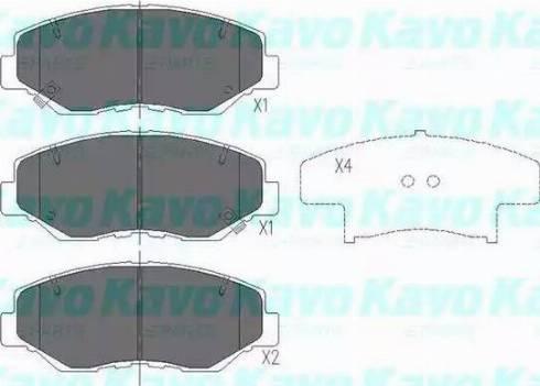 Kavo Parts KBP-2034 - Piduriklotsi komplekt,ketaspidur multiparts.ee