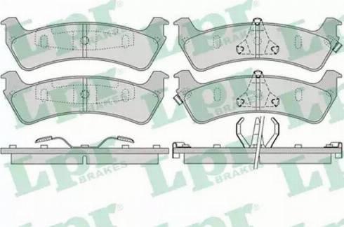 LPR 05P990 - Piduriklotsi komplekt,ketaspidur multiparts.ee
