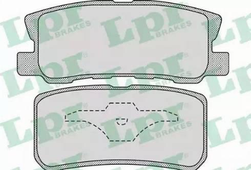 LPR 05P954 - Piduriklotsi komplekt,ketaspidur multiparts.ee