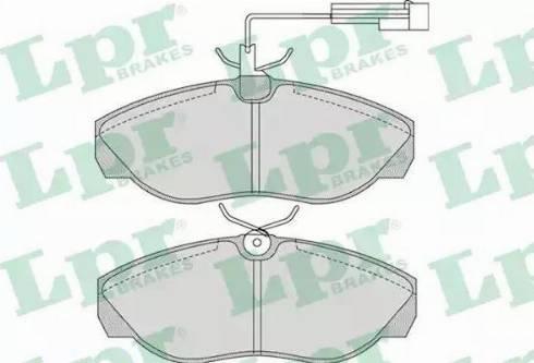 LPR 05P965 - Piduriklotsi komplekt,ketaspidur multiparts.ee