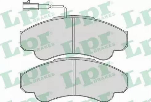 LPR 05P967 - Piduriklotsi komplekt,ketaspidur multiparts.ee