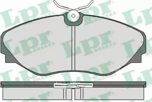 LPR 05P908 - Piduriklotsi komplekt,ketaspidur multiparts.ee