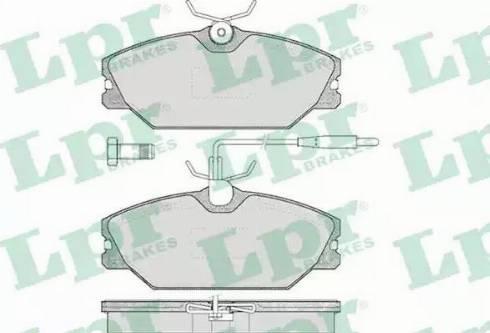 LPR 05P445 - Piduriklotsi komplekt,ketaspidur multiparts.ee