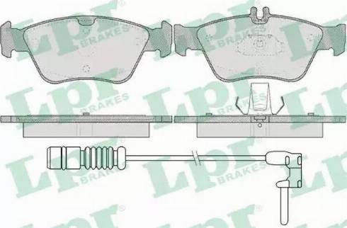 LPR 05P409A - Piduriklotsi komplekt,ketaspidur multiparts.ee