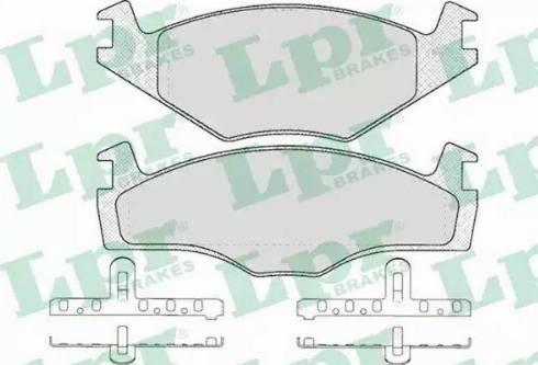 LPR 05P591 - Piduriklotsi komplekt,ketaspidur multiparts.ee
