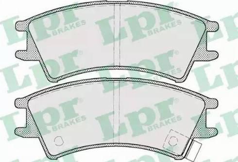LPR 05P695 - Piduriklotsi komplekt,ketaspidur multiparts.ee