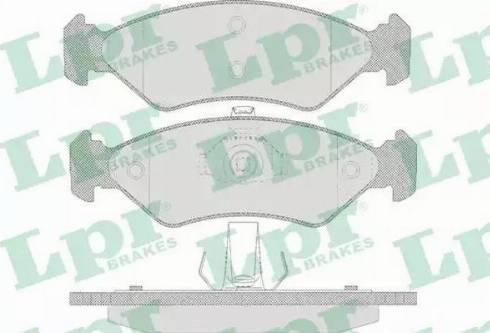 LPR 05P655 - Piduriklotsi komplekt,ketaspidur multiparts.ee