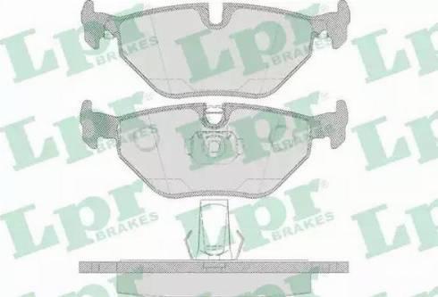 LPR 05P650 - Piduriklotsi komplekt,ketaspidur multiparts.ee
