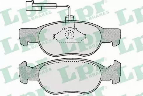LPR 05P652 - Piduriklotsi komplekt,ketaspidur multiparts.ee