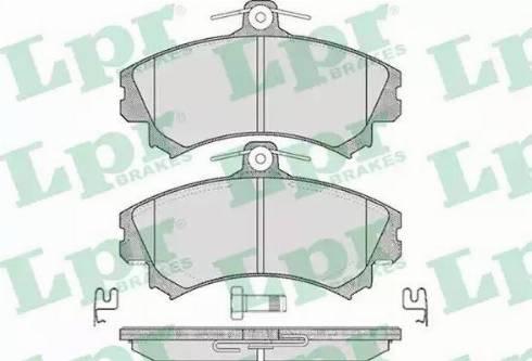 LPR 05P615 - Piduriklotsi komplekt,ketaspidur multiparts.ee