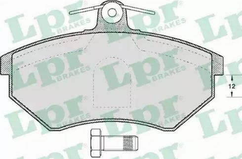 LPR 05P613 - Piduriklotsi komplekt,ketaspidur multiparts.ee