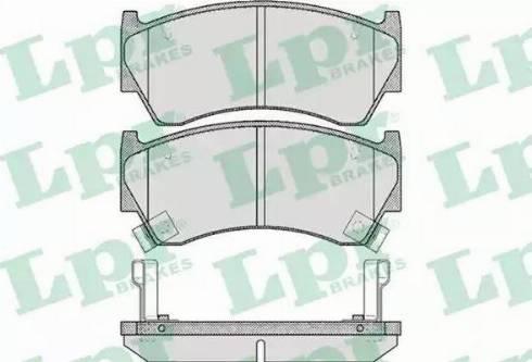 LPR 05P617 - Piduriklotsi komplekt,ketaspidur multiparts.ee