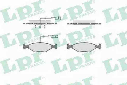 LPR 05P680 - Piduriklotsi komplekt,ketaspidur multiparts.ee