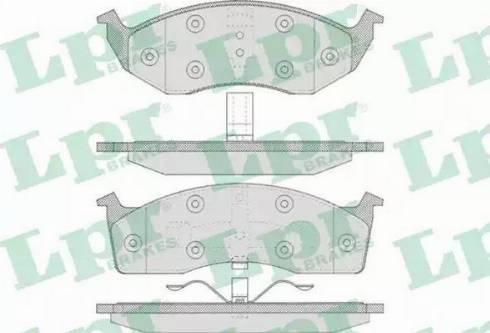 LPR 05P629 - Piduriklotsi komplekt,ketaspidur multiparts.ee