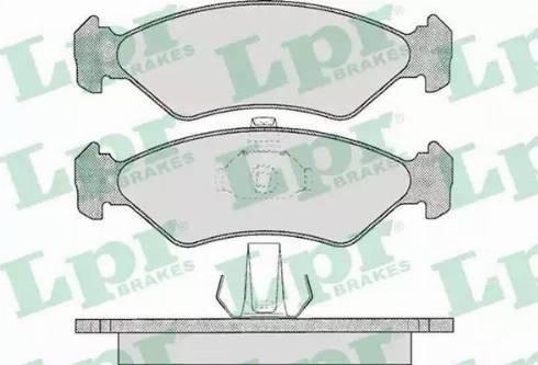 LPR 05P625 - Piduriklotsi komplekt,ketaspidur multiparts.ee
