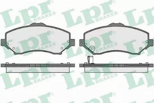 LPR 05P1548 - Piduriklotsi komplekt,ketaspidur multiparts.ee