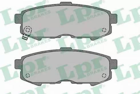 LPR 05P1503 - Piduriklotsi komplekt,ketaspidur multiparts.ee